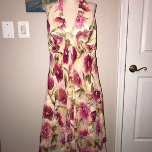 Donna Ricco Silk Halter Dress size 12